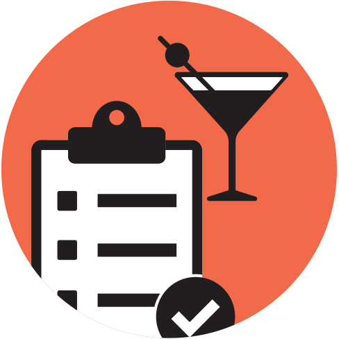 survey cocktail icon